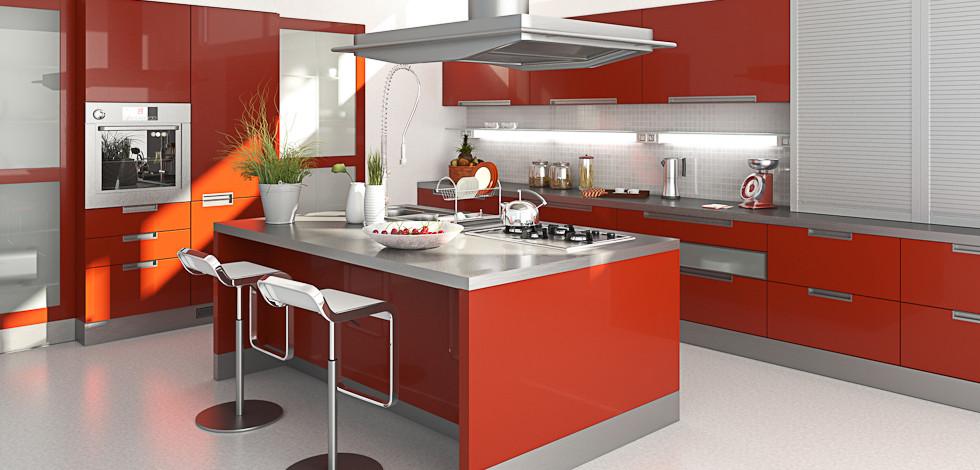 Cozinha impact cozinhas modernas por medida livewood - Cocinas de color rojo ...