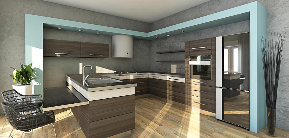 Designer Concrete Kitchen